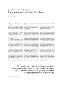 Una fotonovela de Julio Cortázar