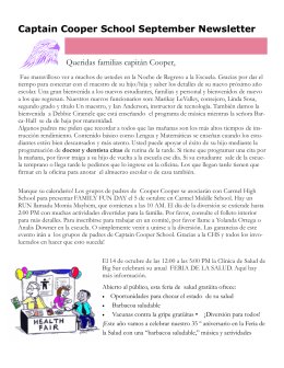 Captain Cooper School September Newsletter