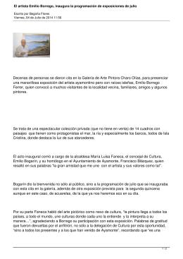 El artista Emilio Borrego, inaugura la programación de exposiciones