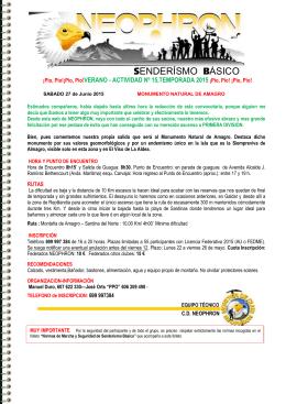 Informacion de la salida en PDF