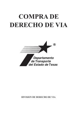 COMPRA DE DERECHO DE VIA