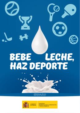 """Folleto """"Bebe leche, Haz deporte"""""""