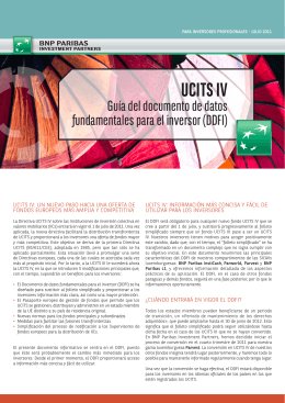 UCITS IV - BNP Paribas Investment Partners