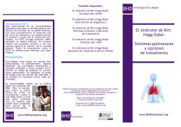 Síntomas pulmonares y opciones de tratamiento - Birt-Hogg