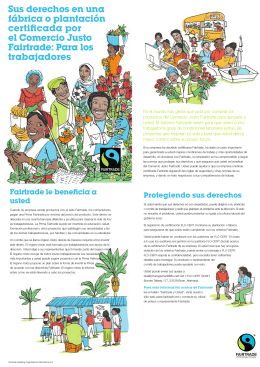 Para los trabajadores - Fairtrade International
