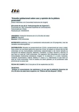 Resultados referentes a Aragón