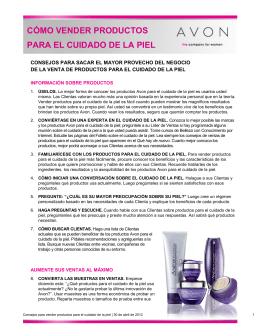 cómo vender productos para el cuidado de la piel
