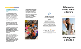 Kindergarten a Grado 3 Health and Career Education