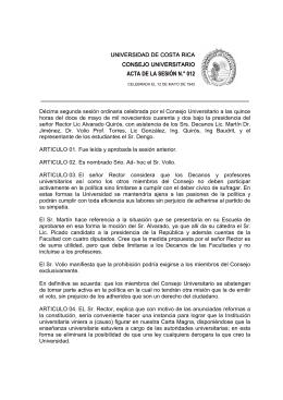 ACTA DE LA SESIÓN N.° 012 - Consejo Universitario