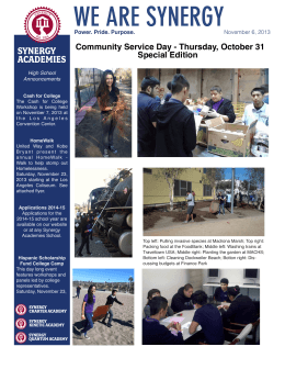 Newsletter 110613 - Synergy Academies