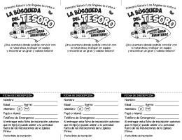 Primaria Estaca Los Ángeles te invita a Nombre: Edad: Barrio: Papá