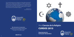 Folleto curso Area Religion 2015.ai