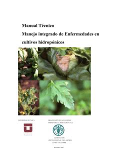 Manual Técnico Manejo integrado de Enfermedades en cultivos