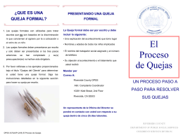 El Proceso de Quejas - Riverside County Department of Public