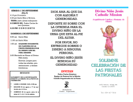 Folleto del Programa de la Fiesta Patronal 2012