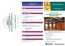 FOLLETO PAVIMENTOS.pub - ETSI Caminos Canales y Puertos