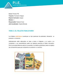 TEMA 3: EL FOLLETO PUBLICITARIO
