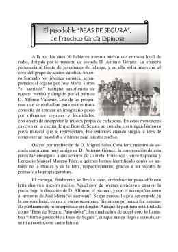 """El pasodoble """"BEAS DE SEGURA"""" - Asociación Cultural Musical"""