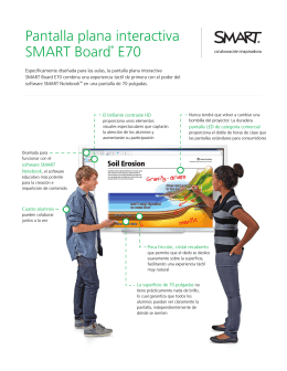 Pantalla plana interactiva SMART Board® E70