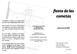 folleto cometas