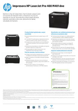 Impresora HP LaserJet Pro 400 M401dne