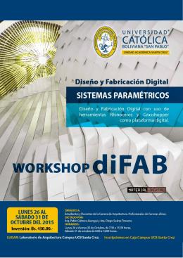Folleto+Diseño+y+Fabricacion 23 - Universidad Católica Boliviana