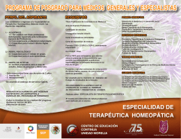 folleto de Terapeutica Homeopatica