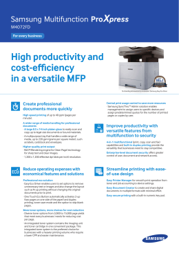High productivity and cost-efficiency in a versatile MFP