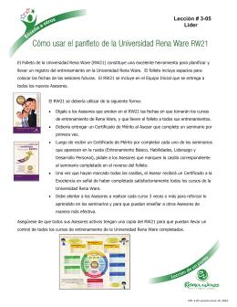 Cómo usar el panfleto de la Universidad Rena Ware RW21