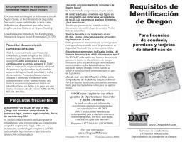 Requisitos de Identificación de Oregon