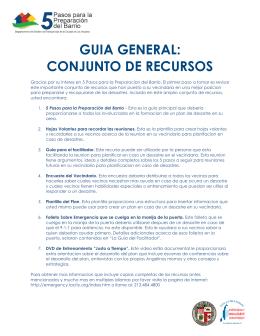 GUIA GENERAL: CONJUNTO DE RECURSOS