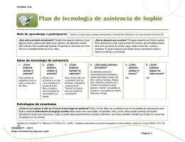 Folleto 5.6: Plan de tecnología de asistencia de Sophie