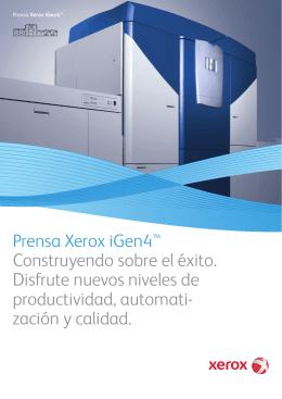 Folleto - Prensa Xerox iGen4™