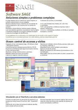 Folleto Software Sage