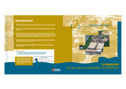 """folleto """"La depuración de las aguas residuales domésticas"""""""