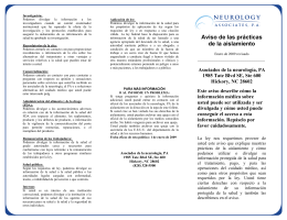 Privacy Notice Brochure Spanish