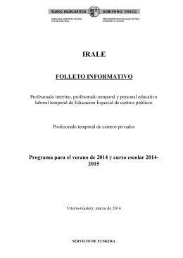 folleto informativo - Hezkuntza, unibertsitate eta ikerketa