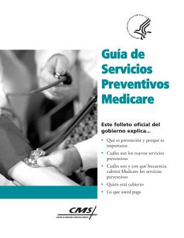 Guía de Servicios Preventivos Medicare