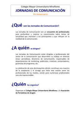 jornadas de comunicación - Colegio Mayor Universitario Miraflores