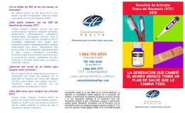Folleto OTC Español - Constellation Health