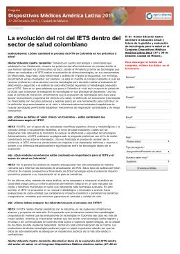 La evolución del rol del IETS dentro del sector de salud colombiano