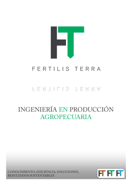Folleto FT - fertilis terra