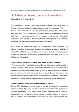 """""""El PAD no es Navarra, porque su foco es Perú"""""""