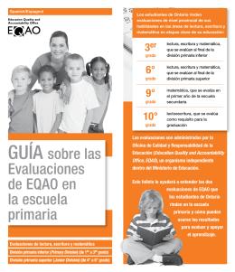 GUÍA sobre las Evaluaciones de EQAO en la escuela primaria