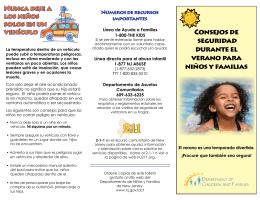 Consejos de seguridad durante el verano para niños y familias