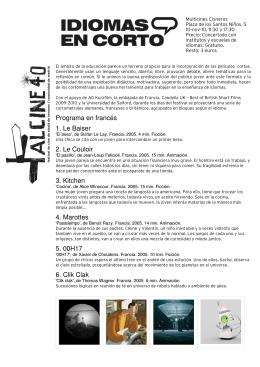 Programa en francés 1. Le Baiser 2. Le Couloir 3. Kitchen 4