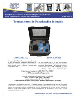 Folleto TxII 3600-5000W