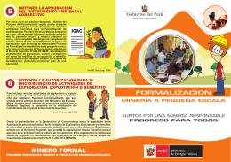 folleto de formalización minera
