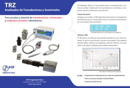Analizador de Transductores y Sonotrodos