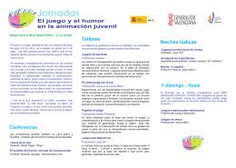 información en folleto - Institut Valencià de la Joventut